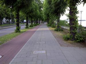 Sidewalk in Cologne, Germany